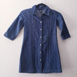 GAP Kids Denim Shirt Dress Size Small 5-6